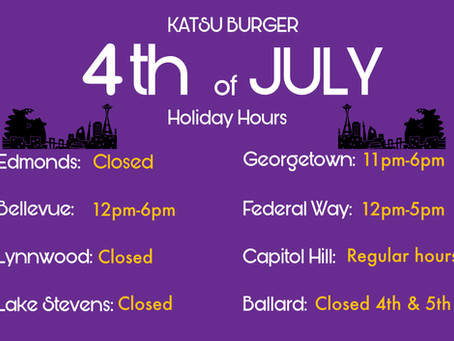 4th Holiday Hours