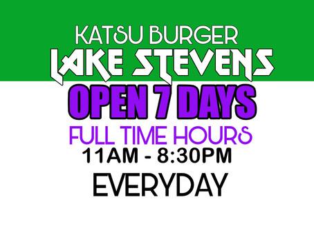 Lake Stevens NEW HOURS!