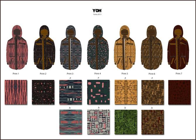 Y'OH Jacket Print Design
