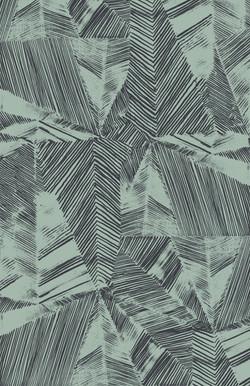 Patched Print - Seafoam