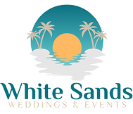 white sands weddings and events logo whi