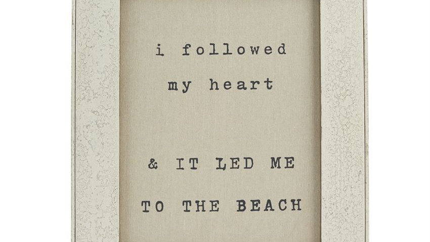 Led Me to the Beach Sign