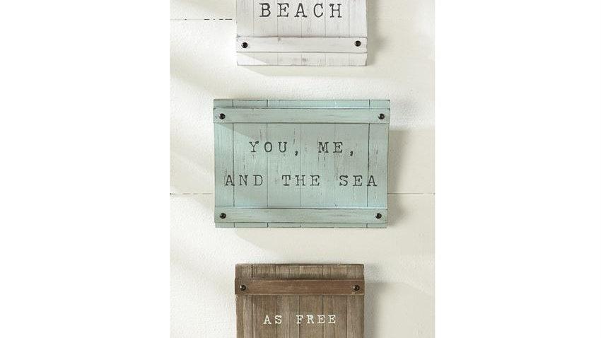 Sea Sentiment Wall Plaque Set