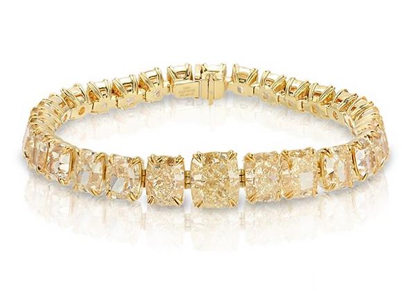 18K YELLOW DIAMOND BRACELET