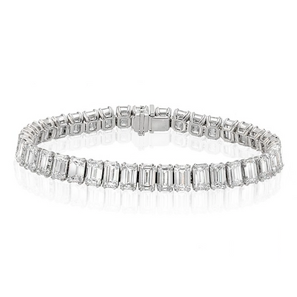 18K EMERALD-CUT DIAMOND BRACELET
