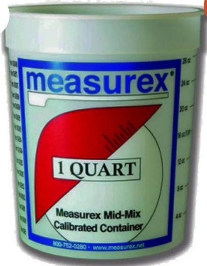 1 Quart Mixing Container w/lid