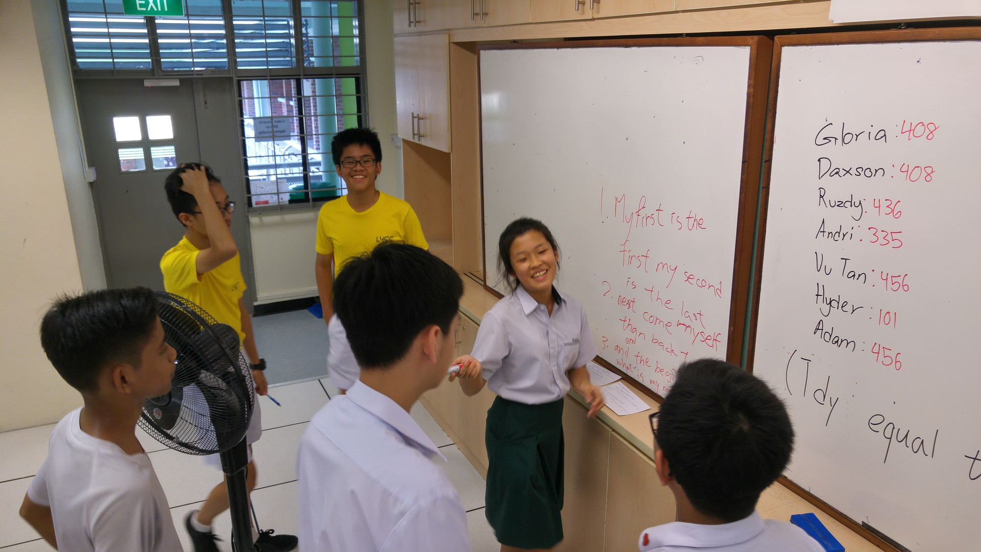 Students participating in an activity