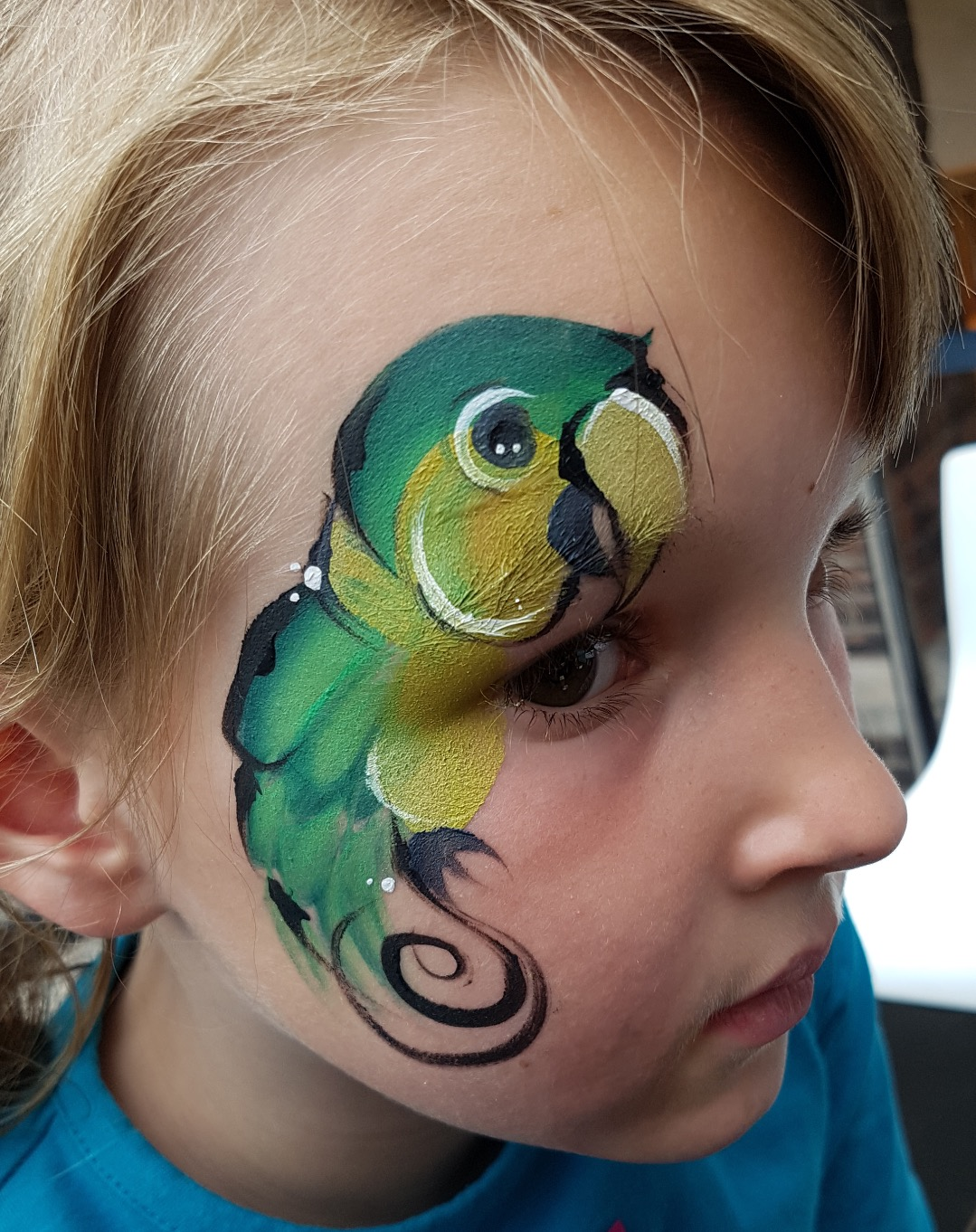 papagaai schminken Amsterdam