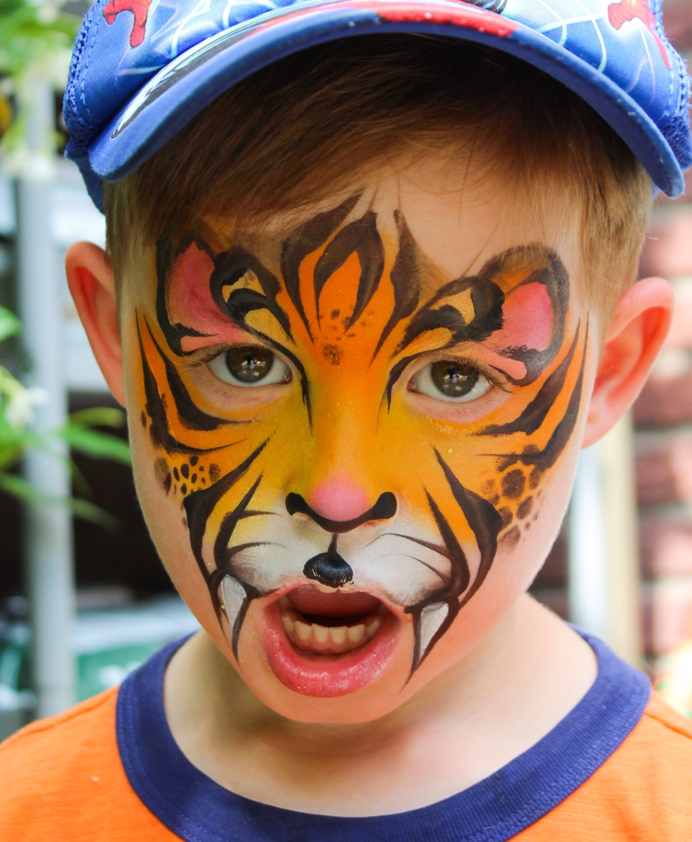 sweet tiger face paint
