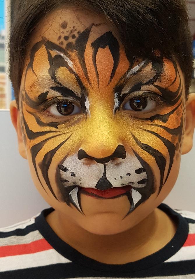 tiger facepaint tijger schminken