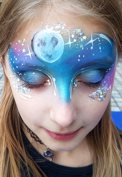 galaxy facepaint
