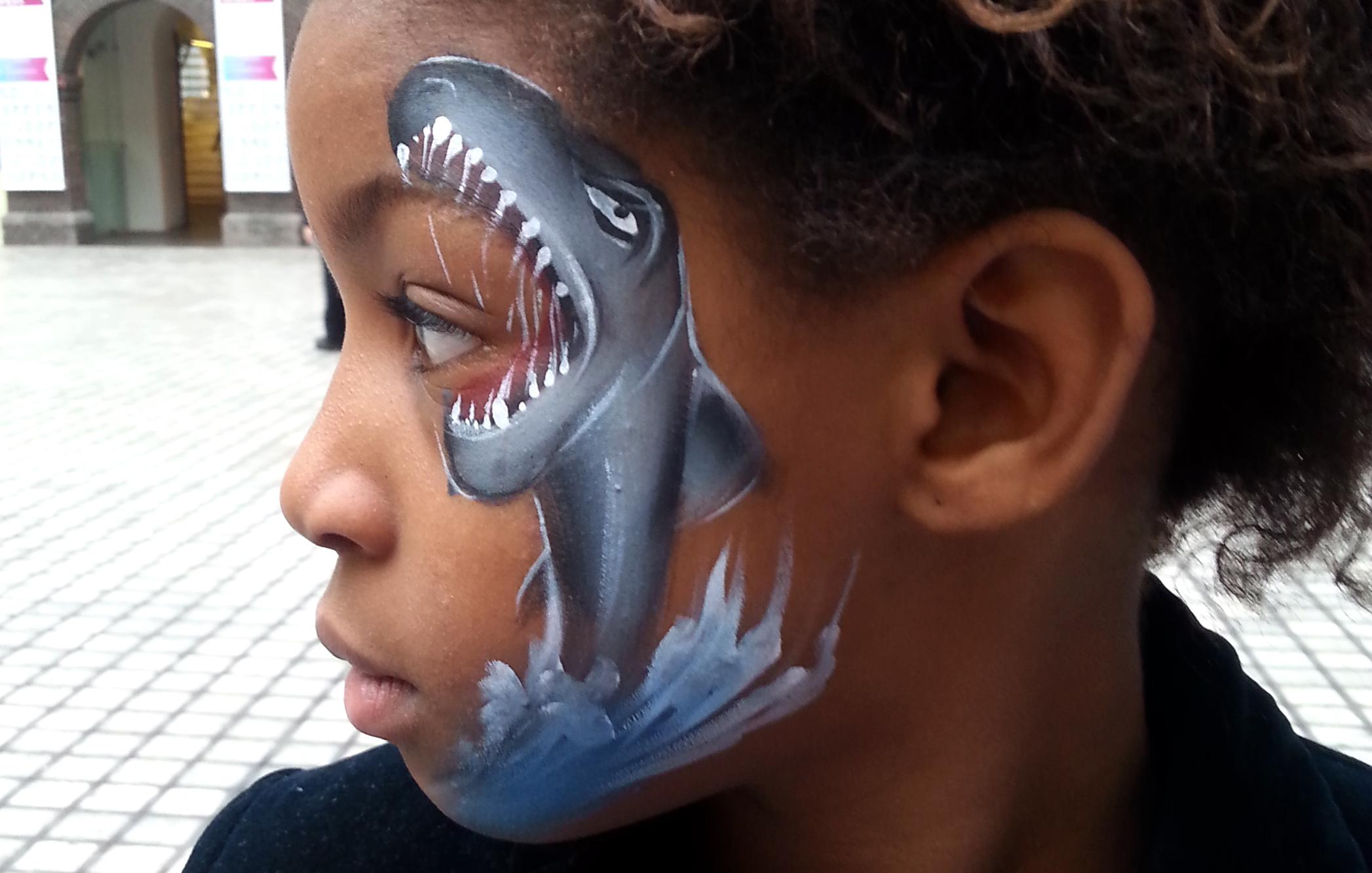 haai schminken