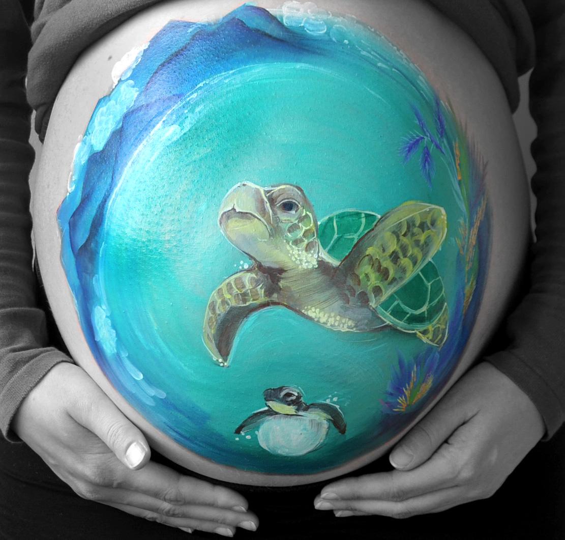 Sea turtle beach / schilpad