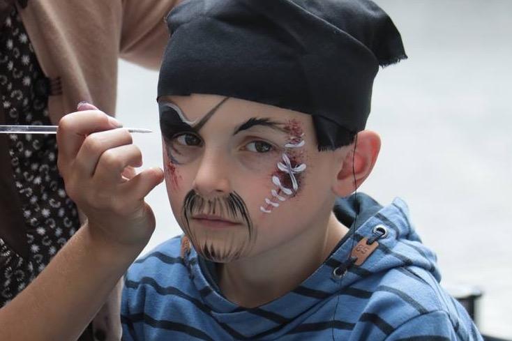 Stoere piraat schminken