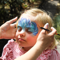 sea princess face painting