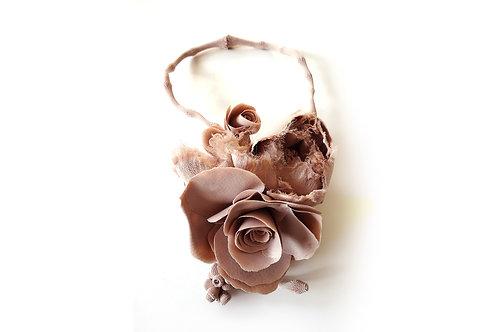 Necklace Fleurs Rose Poudre