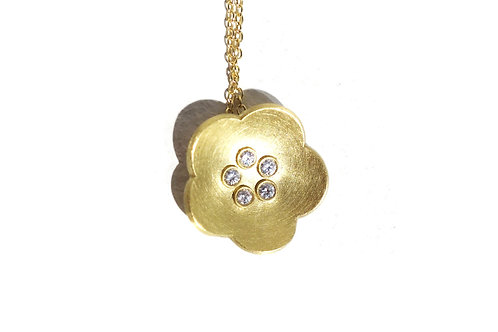 Necklace - Gold Cherry Blossom