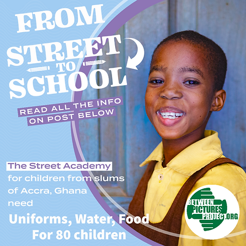 £15 could provide 2 sets of uniforms for 1 child, made for The Street Academy