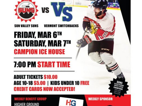 Upcoming Suns Hockey Game