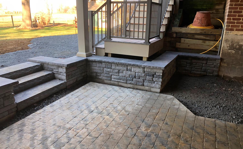 hardscape patio, site planning