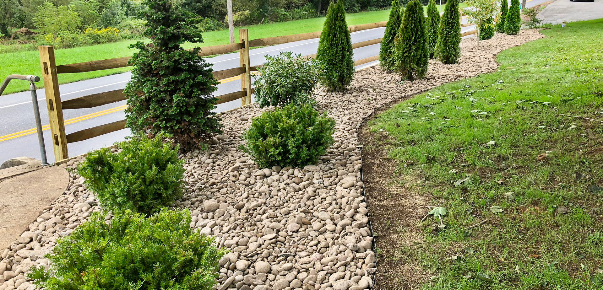 landscaping, fence building