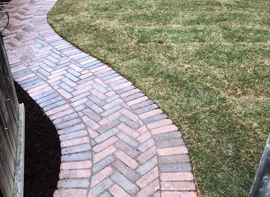 walkway, landscaping