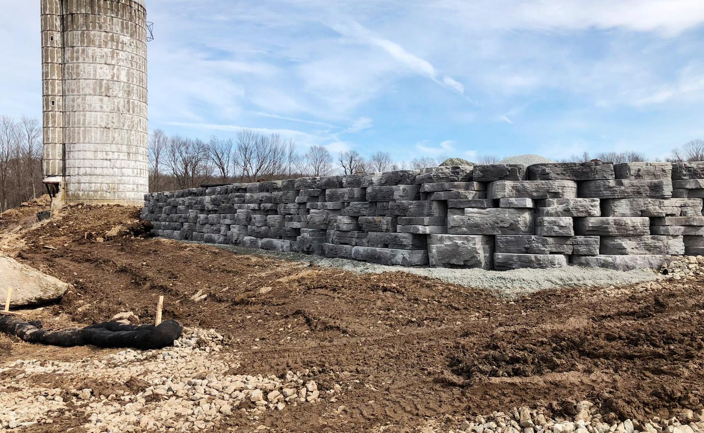 retaining wall, excavation, site planning