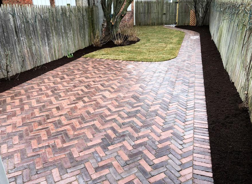 patio, walkway, landscaping