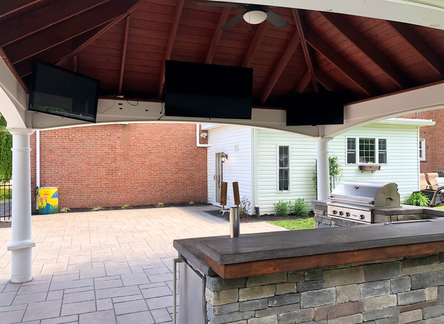 patio, outdoor kitchen