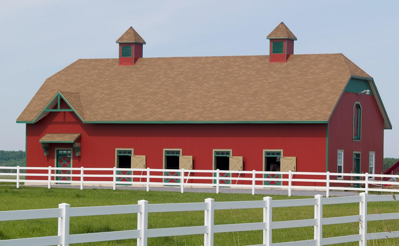 pole barn, fencing