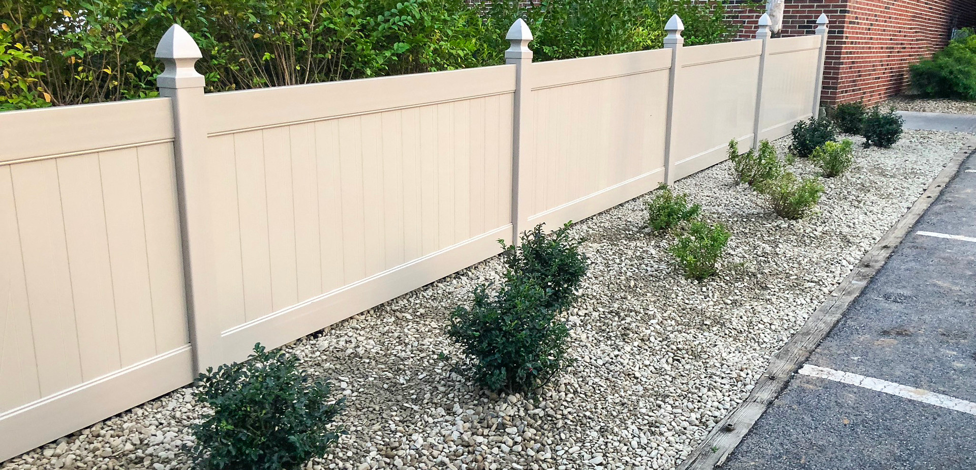 landscaping, fence installation