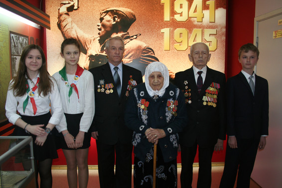 Встреча в  музее школы ЮВАО№1421  г. Мсо