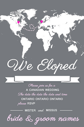 We Eloped Wedding Card
