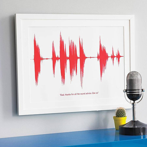 Bespoke Sound Wave Print