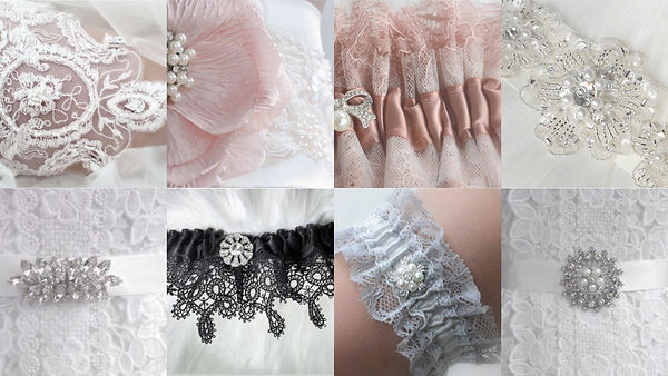Bridal Accessories Muff Garters Sashes