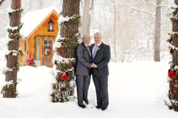 Paul & Mike at the Little Log Cabin