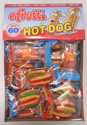 Efrutti Hot Dog Gummi Candy 60 Ct.