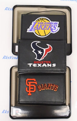 Wallet Embroidered Tri-fold Leather by Rico