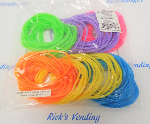 Neon Jelly Bracelets 144 Ct.