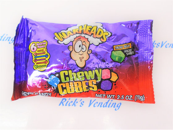 Warheads Chewy Cubes 2.5 Oz