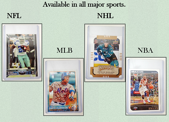 Trading Cards in Plastic Vending Sleeves