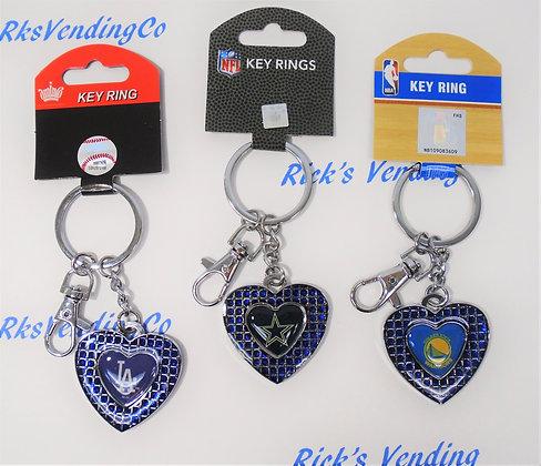 Keychain - Rhinestone Heart