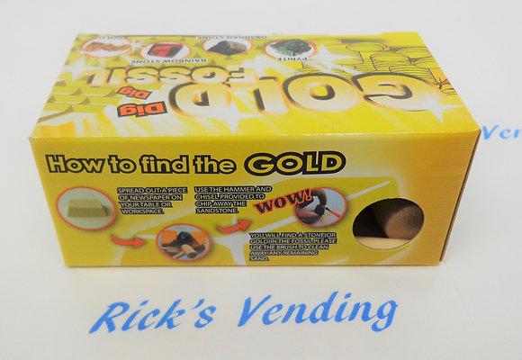 Gold Fossil Dig Excavation Kit