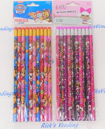Licensed Pencils 10 Ct.