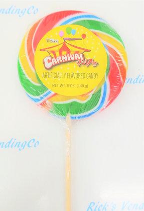 Carnival Pops Round 4.25 Oz Lollipop