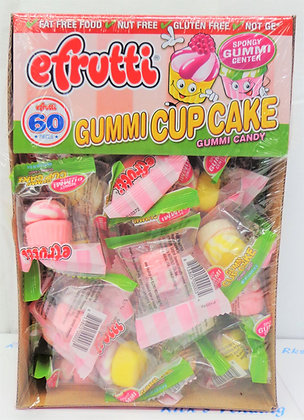 Efrutti Cupcake Gummi Candy 60 Ct.