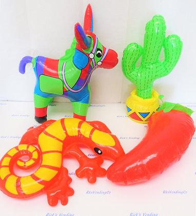 Inflatable Fiesta Donkey Cactus Chili Gecko