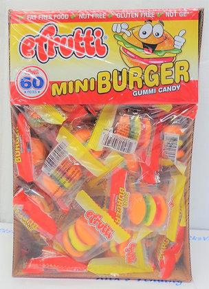 Efrutti Mini Burger Gummi Candy 60 Ct.