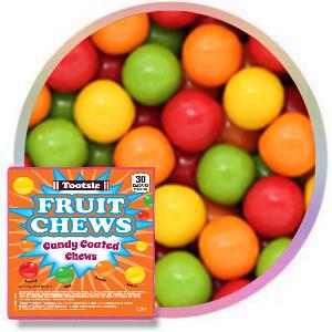 4000 Tootsie Fruit Chew Gumballs