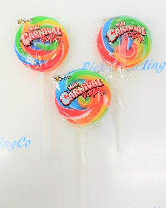 Carnival Pops Mini Round Lollipops 7 Ct. .5 Oz